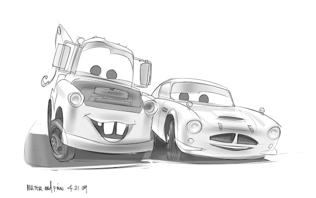 Cars Ii Coloring Pages  Image Cars  Conceptart Finn Mcmissile   Pixar  Wiki Fandom