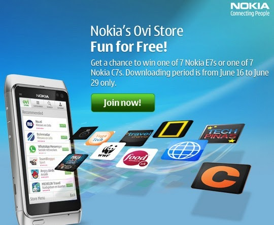 Win Nokia E7 and Nokia C7 : Simply by Downloading an Ovi ...