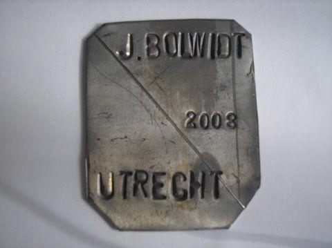 Naam: J. BolwidtPlaats: UtrechtJaartal: 2008