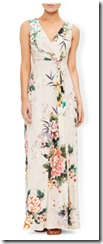 Monsoon printed jersey maxi dress