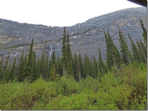 Falls coming off the cliffs, near Bridal Veil Falls, Banff National Park