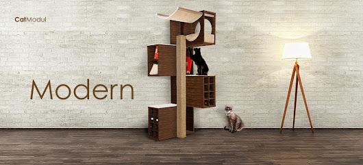 modernes kratzbaum design f r jede. Black Bedroom Furniture Sets. Home Design Ideas