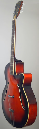 red german vintage jazz archback guitar at Ukulele Corner