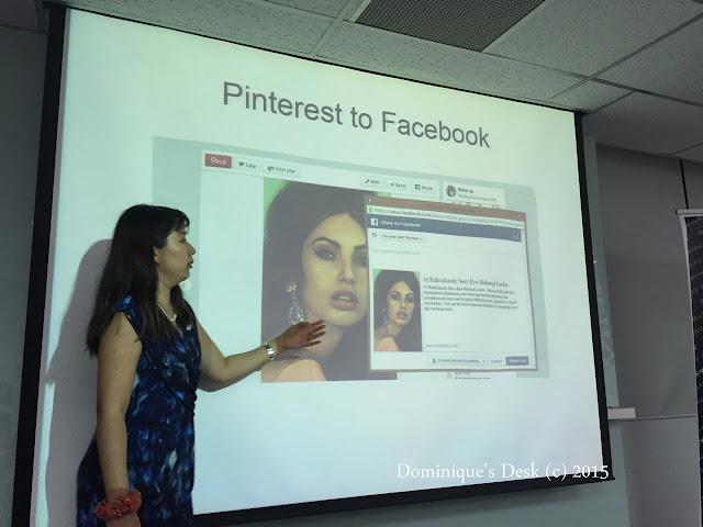 Speaking at a Social Media sharing session at Mary Kay