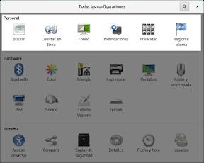 Como configurar GNOME con detalle. Configuración personal.