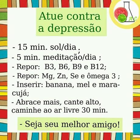 dicas contra depressão