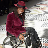 OIC - ENTSIMAGES.COM - Ade Adepitan at the Fashion For Relief - catwalk show & fundraiser at Somerset House in London 19th February 2015  Photo Mobis Photos/OIC 0203 174 1069
