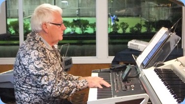 Rod Moffat playing his Korg Pa4X 76 note. Photo courtesy of Dennis Lyons.