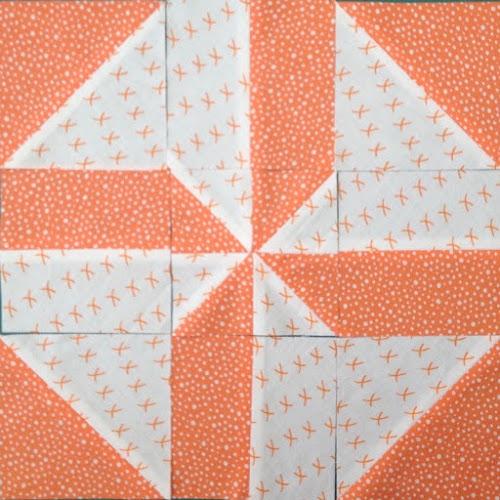 Disappering pinwheel block