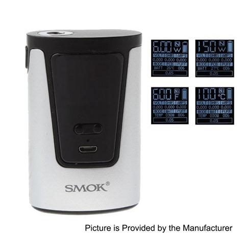 authentic-smoktech-smok-g150-150w-4200mah-tc-vw-variable-wattage-box-mod-silver-zinc-alloy-6150w