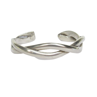 Sterling Silver Twist Bangle Bracelet