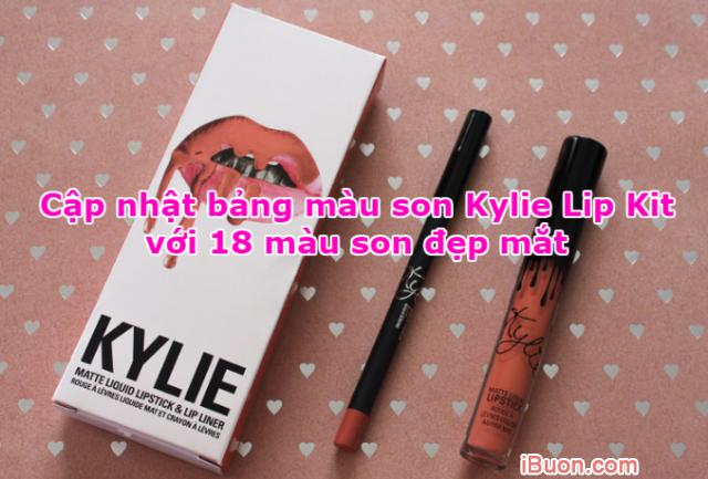 Cập nhật bảng màu son Kylie Lip Kit với 18 màu son đẹp mắt + Hình 1