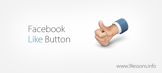 Facebook Like Button.