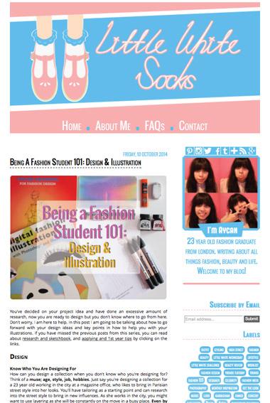 little white socks page screenshot