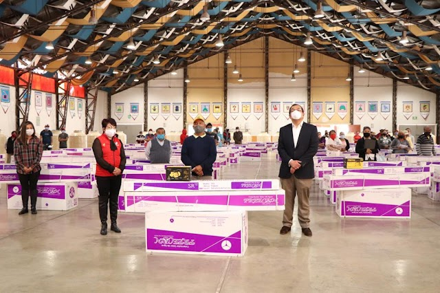 Más de dos mil 700 Huamantlecos han recibido Calentadores Solares y Rotoplas  ♻️☀️