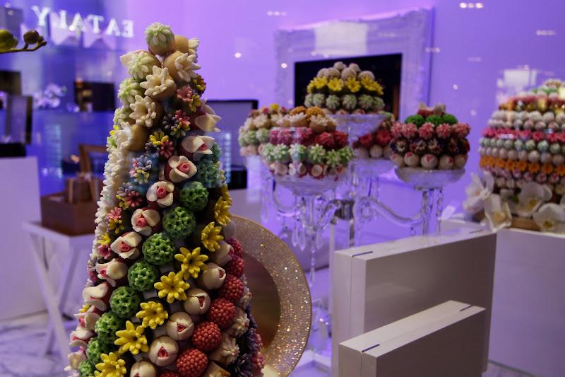 Detalle de una pastelería del Dubai Mall
