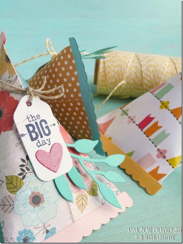 Bomboniera Scatolina con fustelle Triangle Gift Box per Sizzix Big Shot