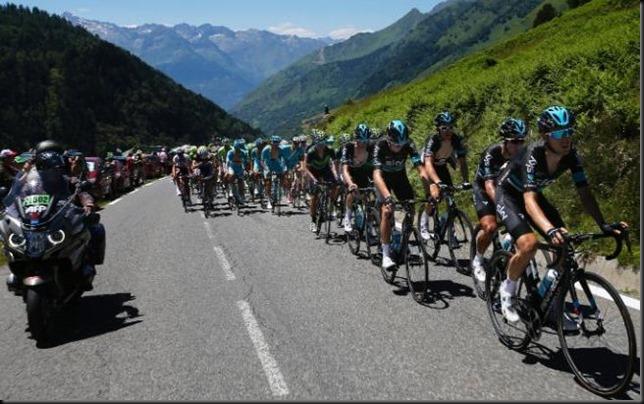 Team-Sky uphill