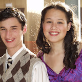 Gerald, played by Zach Reino and Lady Jackie played by Avian Johnson
