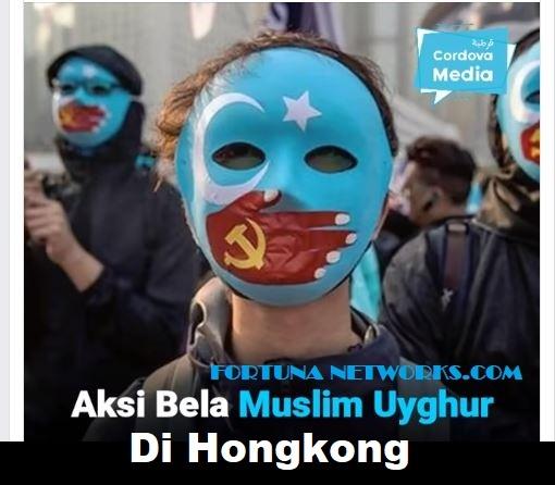 [Video] Aksi Bela Muslim Uyghur di Hongkong