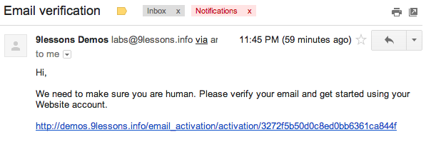 PHP Email Verification Script.