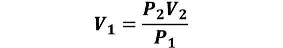 Las leyes de los gases: de boyle, de Charles, de Gay Lussac, de Avogadro y de Dalton - Despeje de la ley de Boyle en caso de que se conozca P2, V2 y P1; pero se desconoce V1 - sdce.es - sitio de consulta escolar