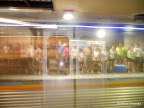 How accidentally cool did this turn out? Just as I took this picture of all the runners waiting on the other side of the track, a MARTA train came flying through, leading to this fun see-through effect.