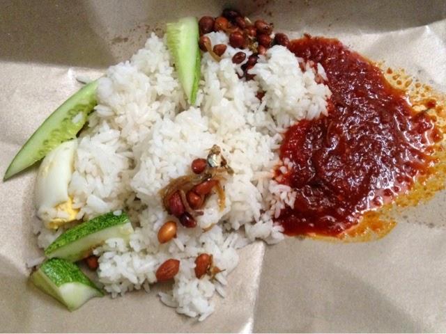 Nasi lemak biasa RM1.20