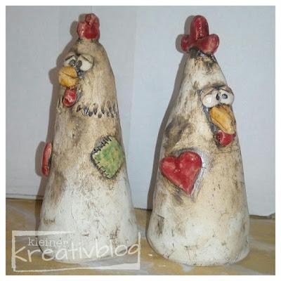 kleiner-kreativblog: schräge Hühner