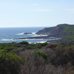 Views down the coast from the open heath land south of Saltwater Creek (106159)