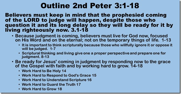 Outline 2 Peter 3.1-18