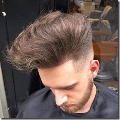 Fade with Long Hair on Top
