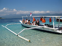Our dive boat on Gili Air