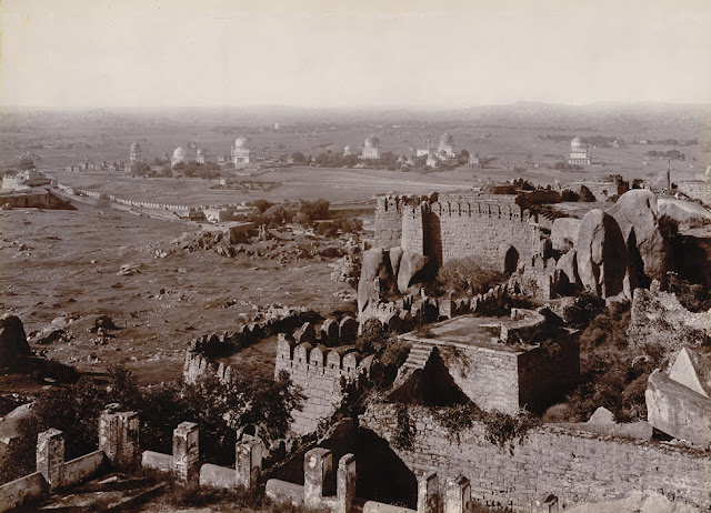 Hyderabad - Rare Pictures - Golconda%2BTombs%2Bfrom%2BFort%2B1902-03.jpg