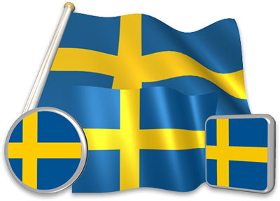 Swedish flag animated gif collection