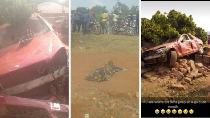 Mercedes Car with learner sign crushes six children to death in Edo State