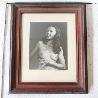 Fred William Carter Signed Nude Portrait Photograph