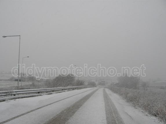 Με χιόνι ξύπνησε το Διδυμότειχο. Ανεβαίνει η στάθμη των ποταμών