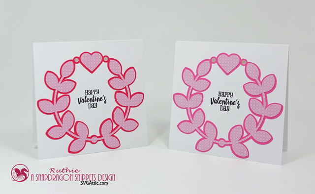 Happy Valentine'sDay, SnapDragon Snippets, Laurel wreath love you card, Ruthie Lopez