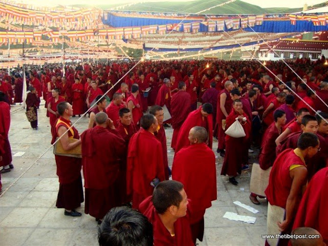 Massive religious gathering and enthronement of Dalai Lama's portrait in Lithang, Tibet. - l20.JPG