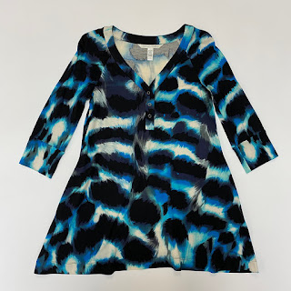 SALE* Diane Von Fürstenberg Silk Blue Print Dress
