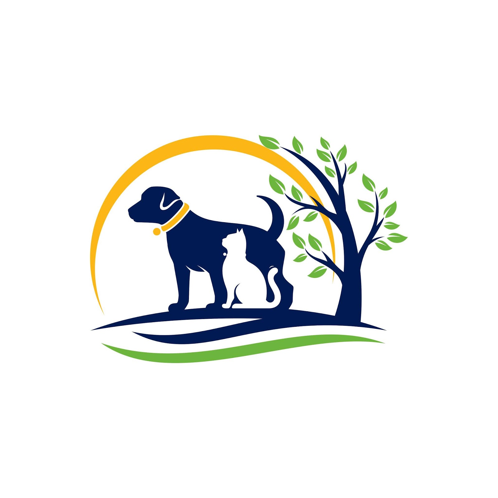 Dog Cat Logo Template Veterinary Free Download Vector CDR, AI, EPS and PNG Formats