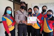 Polsek Kuala Behe Apresiasi Kepada Pelajar Yang Menggunakan Masker