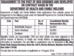 MOHFW Notification 2018 www.indgovtjobs.in
