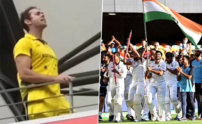 Australian cricket  fan slogan bharat  mata ki jai slogan goes viral