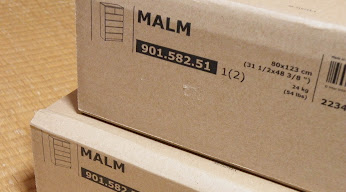MALMチェスト 引き出し6 ブラックブラウン梱包