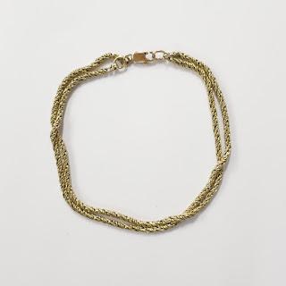 18K Gold Double Strand Bracelet
