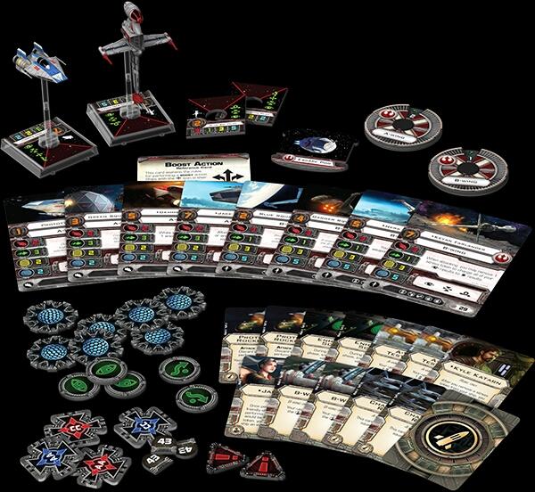 Contenido de los Ases Rebeldes X-Wing