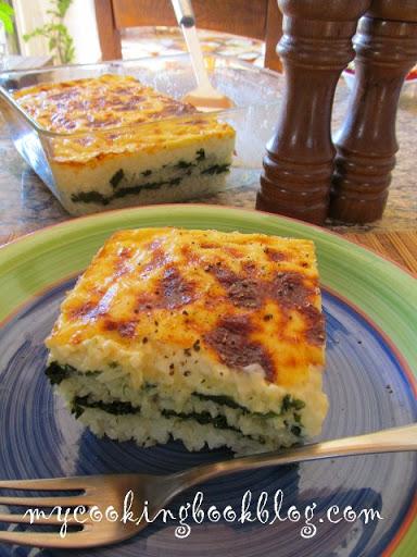 Спанак с ориз на фурна и заливка Бешамел