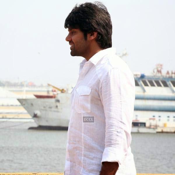 Arya in a still from the Tamil movie Meagaamann.